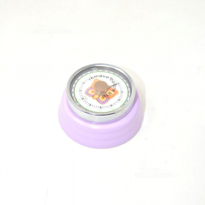Timer Kitchen Tyhun Metal And Glass Lilac With Butterfly