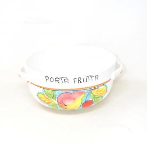 Ciotola Porta Frutta Bianca Diametro 24 Cm
