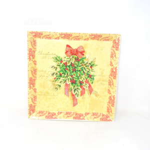 Tray Square In Plastic Christmas 32x32 Cm