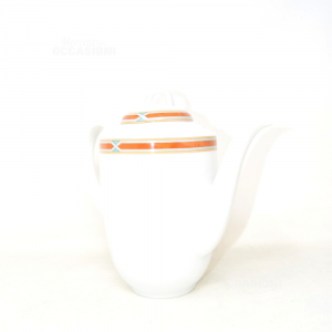 Ceramic Teapot With Headband Brown 21 Cm