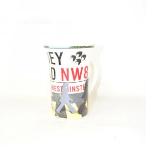 Tazza Colazione In Ceramica Gear Gifts Ltd. Abbey Road Nw8 12 Cm