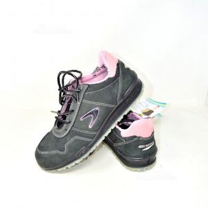 Shoes Accident Prevention Woman Brand Cofra Alice Black And Pink N° 40 New