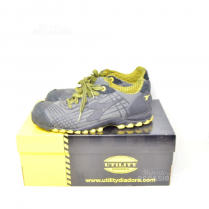 Shoes Accident Prevention Utility Diadora Grey And Yellow N° 42