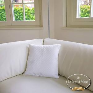 Fodera cuscino trapuntata bianca