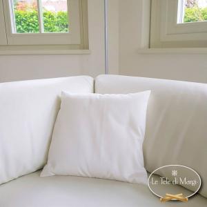 Fodera cuscino rasatello bianca