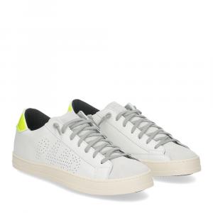P448 John-M sneaker bianca giallo fluo