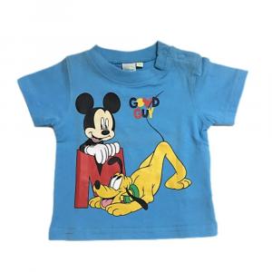 Maglietta 6 mesi Topolino manica corta neonato azzurro