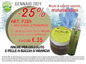 3 prodotti Scrub Lemongrass - Olio Idratante e Guanto Esfoliante