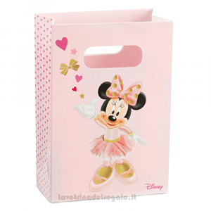 Busta regalo Minnie Ballerina Rosa 16x7.5x23 cm - Buste battesimo bImba