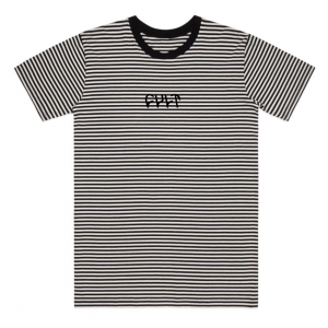 Cult Black Stripe Logo Tee T-Shirt
