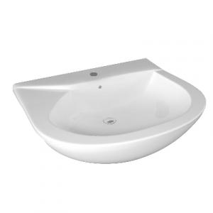 LAVABO SEMINCASSO MOD. LIWA CM 64X54                                   Bianco