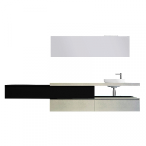 MOBILE DA BAGNO FLYING (DA COMPORRE)                                   Mensola 90x50x8 Nero Touch