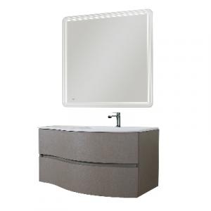 MOBILE BAGNO SERIE NUVOLA  (DA COMPORRE)                               Specchio retroillum. 90x90
