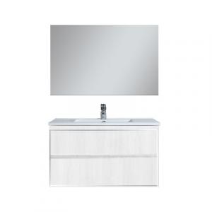 MOBILE BAGNO SERIE SIRY  (DA COMPORRE)                                 Base cm 76x44x50 Larice Bianco