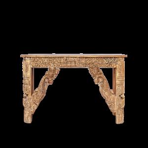 Consolle in legno di teak con cornici recuperate