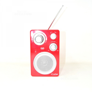 Radio Portable Red In Plastic Cuba Radio - Trevi Working