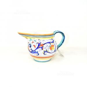 Carafe In Ceramic Deruta (defect Crack) 10x17 Cm