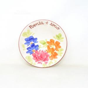 Plate Hand Painted Bassano Poenta And Tocio