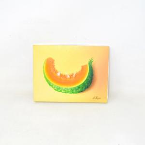 Tela Dipinta A Mano Melone 20x15 Cm