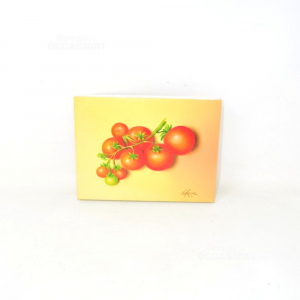 Tela Dipinta A Mano Pomodorina 20x15 Cm