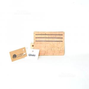 Porta tessere In Sughero 9.5 X 7.5 Cm