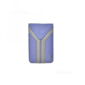 Custodia Ysl Blu Nera 13.5 X 8.5 Cm