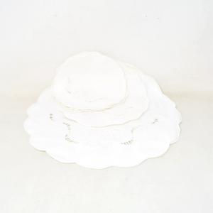 Set Centrini Tondi White 10 Pieces