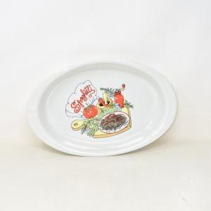 Piatto Ovale Spaghetti 37 X 24 Cm