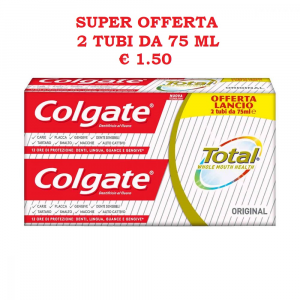 COLGATE Total Original Dentifricio 75ml x 2