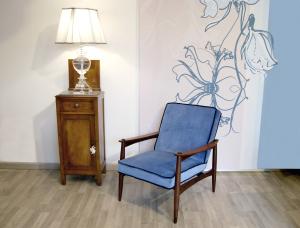 Poltrona danese vintage blu