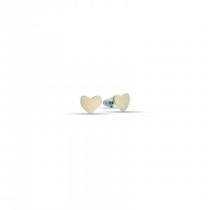 Luca Barra - Orecchini in acciaio ip gold con cuori