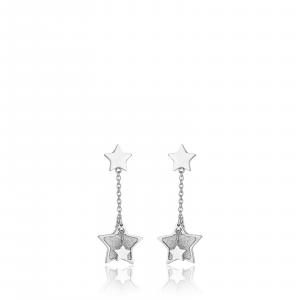 Luca Barra - Orecchini in acciaio con stella glitter