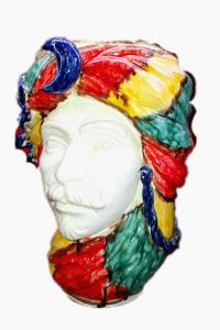 Testa di Moro Con Turbante Colorato Uomo