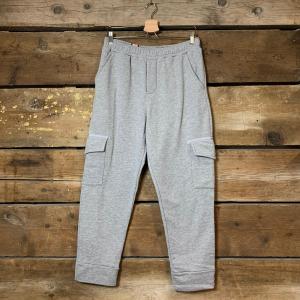 Pantalone Tuta Obvious Basic in Jersey con Tasche Grigio Chiaro