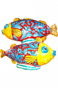 Colored Fishes Ceramics From Calatagirone