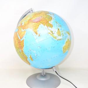Lampada A Forma Di Mappamondo 40 Cm