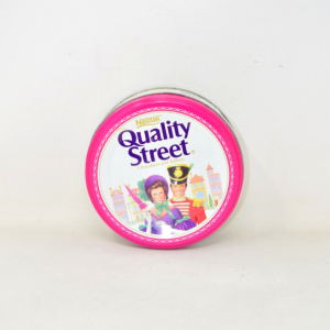 Scatola In Latta Vintage Quality Street Nestlé 14 Cm