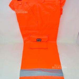 Pantalone Uomo Catarifrangente Arancione Tg 50 Nuovo