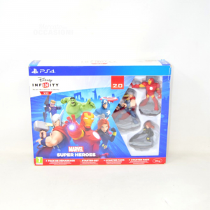 Gioco Disney Infinity 2.0 Marvel Super Heroes Starter Pack per PS4 nuovo