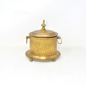 Holder Items Brass With Lid Decorated