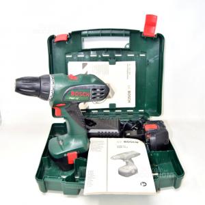 Trapano / avvitatore Bosh PSR 12 Con Due Batterie Istruzioni E Valigetta
