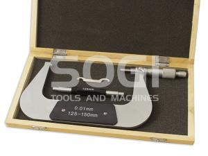 MICROMETRO CENTESIMALE PER ESTERNI L=125-150 mm. SOGI TERMINALI CROMATI MIC-125-150 CALIBRO ESTERNI