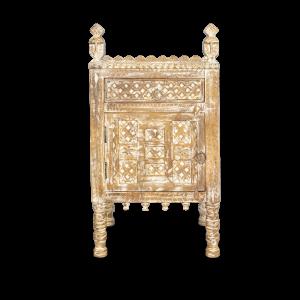 Comodino / mobiletto in legno di palissandro con antina apertura sinistra