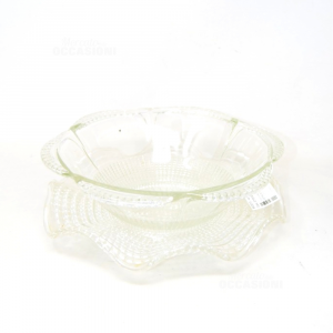 Holder Fruit In Glass With Glass Base,height 14 Cm