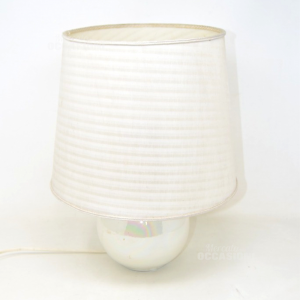 Lamp With Base Ceramic And Lampshade White