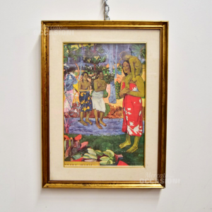 Painting Print - Canvas Replica Paul Gauguin The Orana Maria 47x73 Cm S