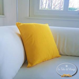Fodera cuscino tinta unita giallo
