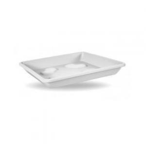 Veca Sottovaso Quadrato Colore Bianco 36 cm Ideale per Piante e Fiori Da Giardino