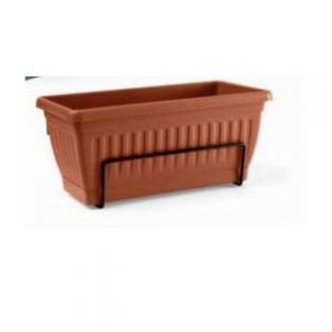 Veca Firenze Cassetta per Piante e Fiori da Giardino con Sottocassetta 60 cm Terracotta Ideale per Giardino Balcone