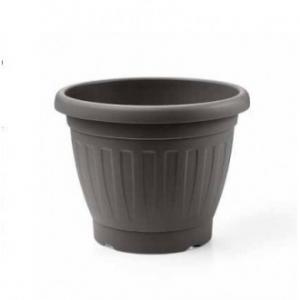 Veca Firenze Vaso Color Antracite 45 cm Circolare Per Piante e Fiori Da Giardino